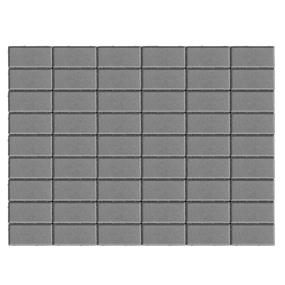 Тротуарная плитка Прямоугольник, Серый, двухслойная