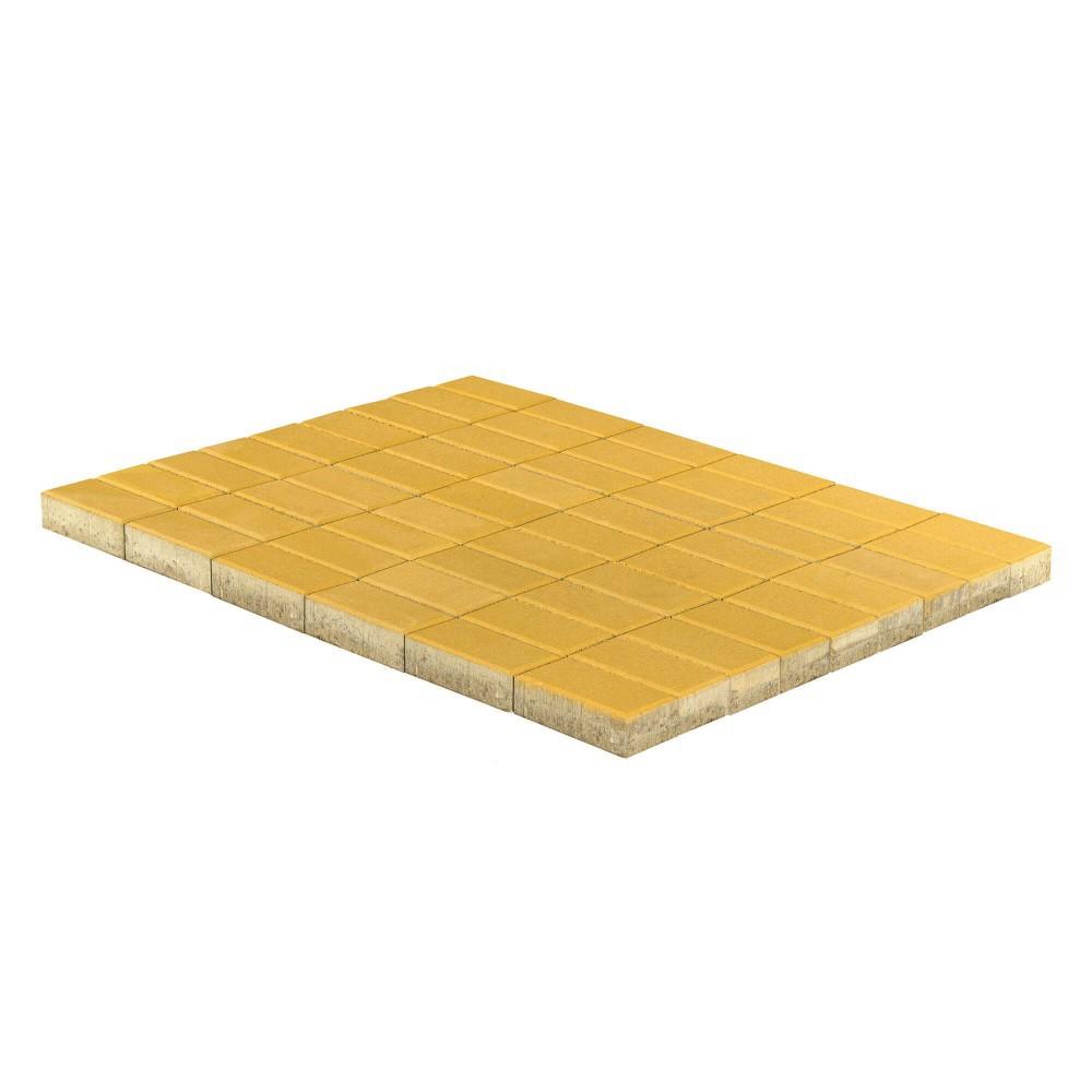 Тротуарная плитка Прямоугольник, Желтый, 60