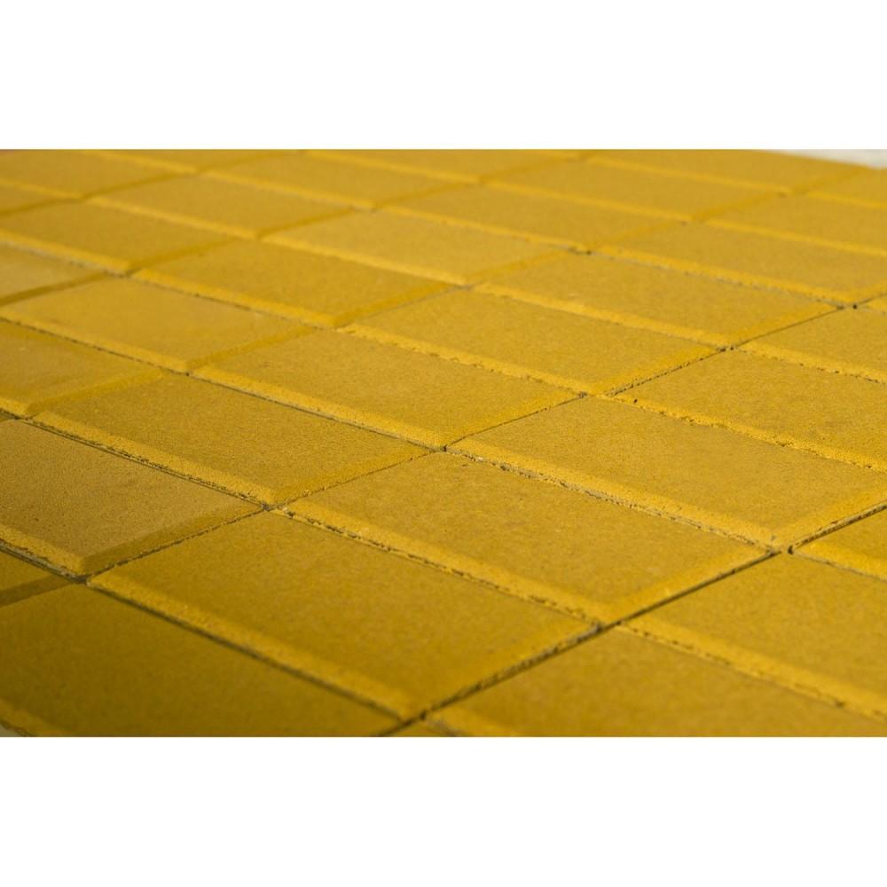 Тротуарная плитка Прямоугольник, Желтый, 40