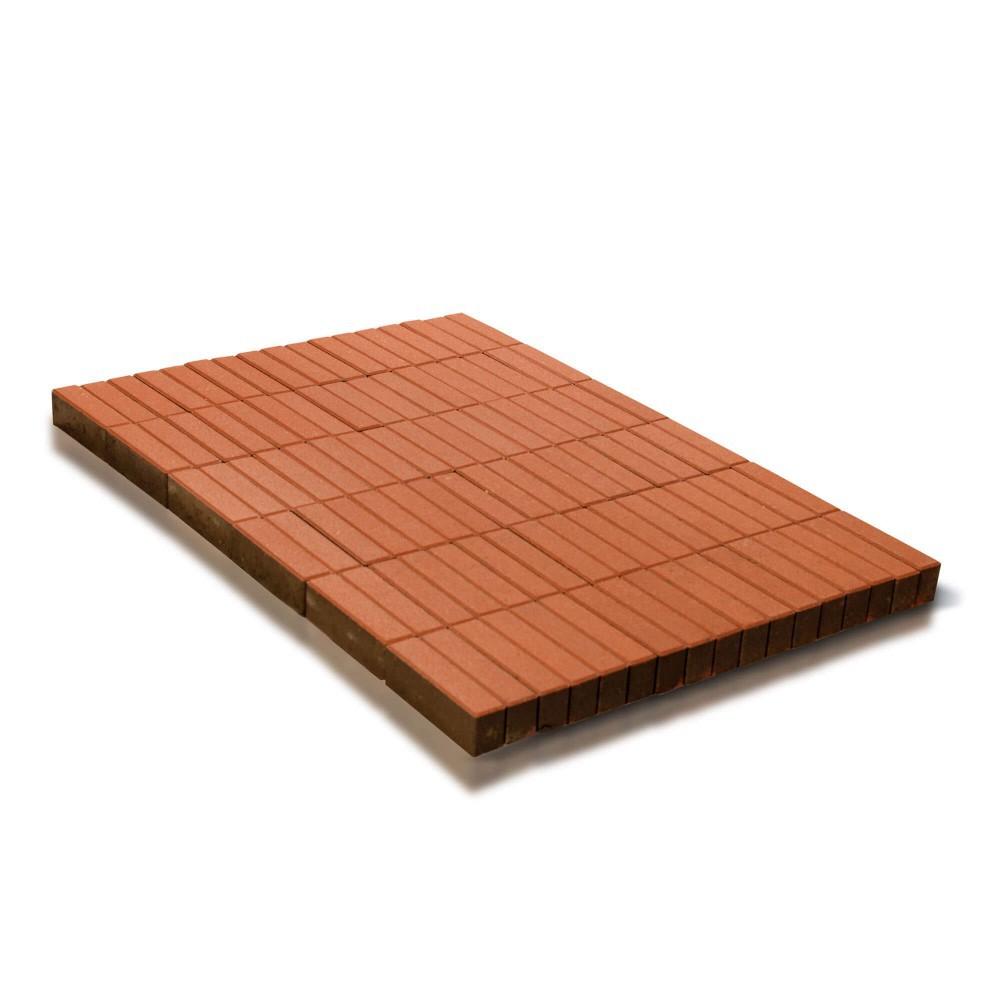 Тротуарная плитка Прямоугольник, Оранжевый, 200х50x60