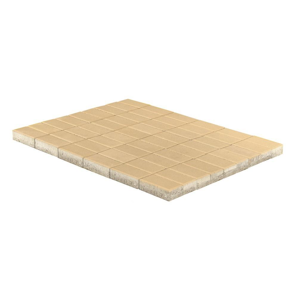Тротуарная плитка Прямоугольник, Песочный, 40