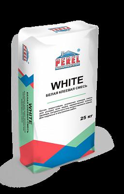 Белая водостойкая усиленная клеевая смесь Perel White 0317