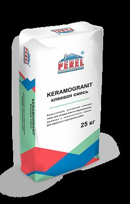 Водостойкая усиленная клеевая смесь Perel Keramogranit 0322