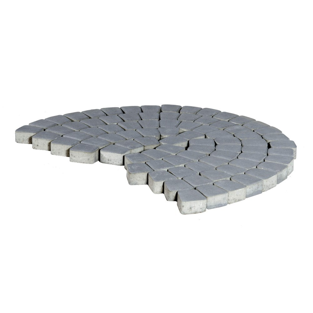 Тротуарная плитка Классико круговая, Грифильный, 60