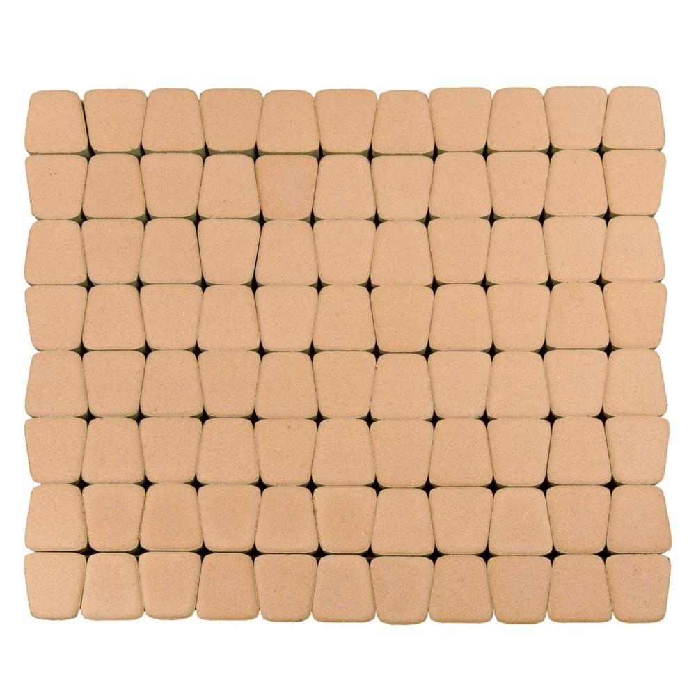 Тротуарная плитка Классико круговая, Коралловый, 60