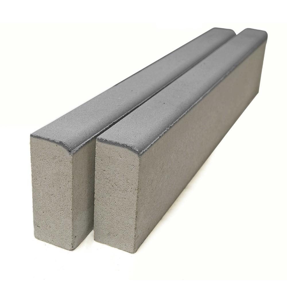 Бордюр тротуарный БР 100.20.8 серый, двухслойный