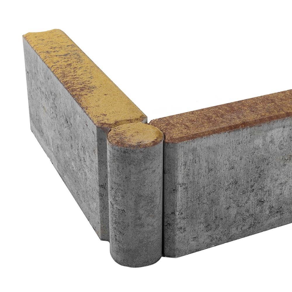 Бордюр тротуарный шарнирный БРШ 500*200*78COLOR MIX «Мальва»
