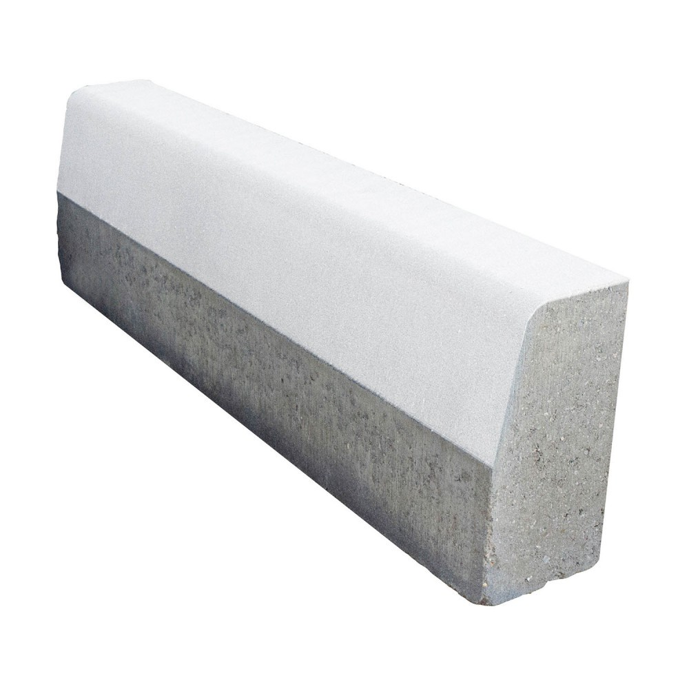 Бордюр дорожный БР 100.30.15 белый, двухслойный