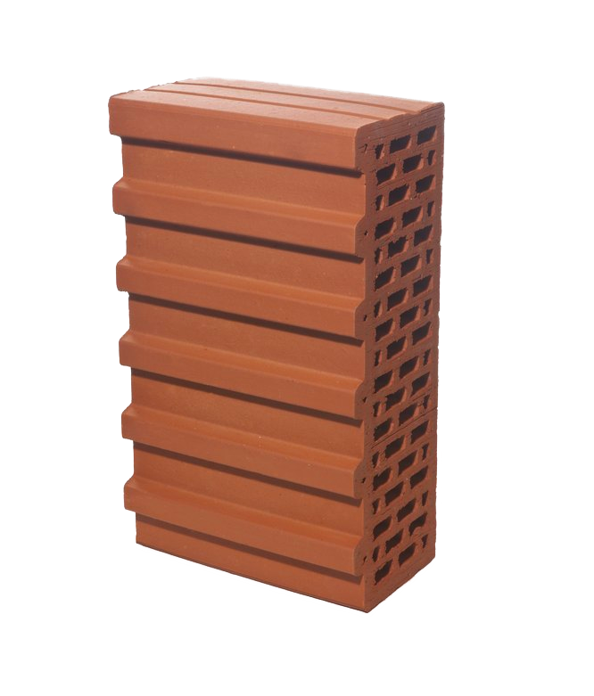 Керамический блок крупноформатный поризованный доборный 5.2НФ, М100, BRAER
