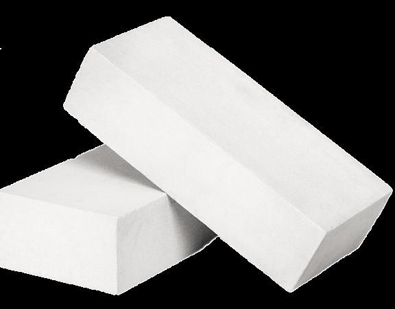 Одинарный лицевой полнотелый белый силикатный кирпич CОЛПО-M150/F75/1,8