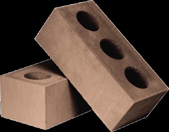 Утолщённый лицевой пустотелый коричневый силикатный кирпич СУЛПУ-M150/F50/1,6