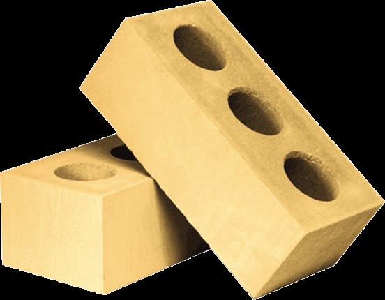 Утолщённый лицевой пустотелый жёлтый силикатный кирпич СУЛПУ-M150/F50/1,6