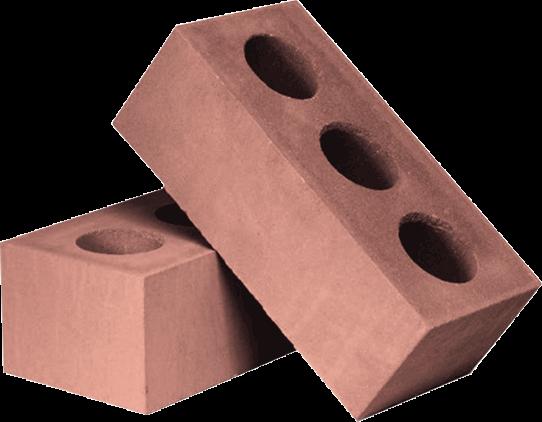 Утолщённый лицевой пустотелый светло-коричневый силикатный кирпич СУЛПУ-M150/F50/1,6