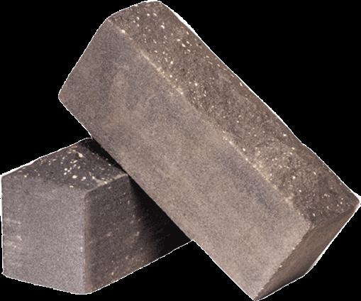 Утолщённый лицевой полнотелый рустированный гидрофобизированный силикатный кирпич СУЛПОРУГ-M150/F50/1,8