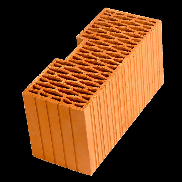 Керамический блок крупноформатный POROTHERM 44R поризованный М100