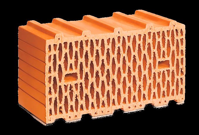 Крупноформатный поризованный керамический блок ЛСР 14,3 NF М100
