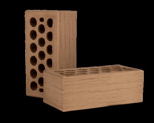 Кирпич керамический пустотелый - Мокко дикий камень 1 НФ