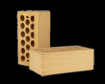 Кирпич керамический пустотелый - Солома дикий камень 1.4 НФ