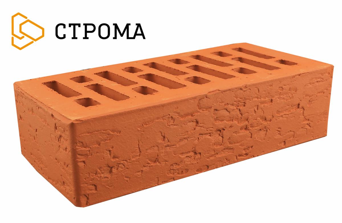 Кирпич лицевой Красный кора дуба, 1НФ, Строма