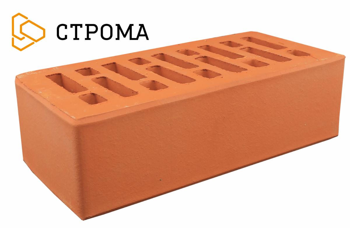 Кирпич лицевой Красный гладкий, 1.4НФ, Строма