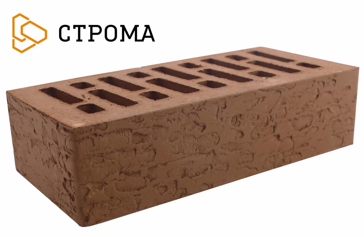 Кирпич лицевой Коричневый кора дуба, 1НФ, Строма