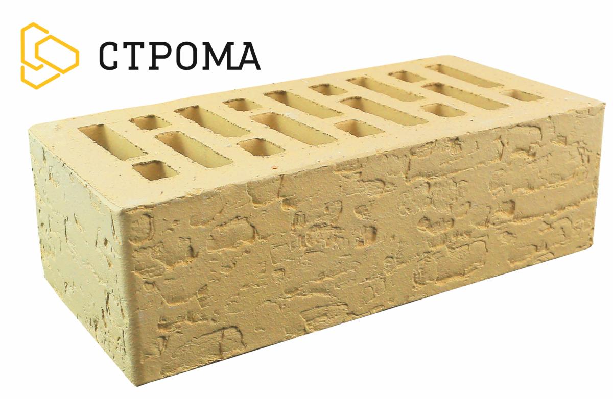 Кирпич лицевой Слоновая кость, кора дуба, 1.4НФ, Строма