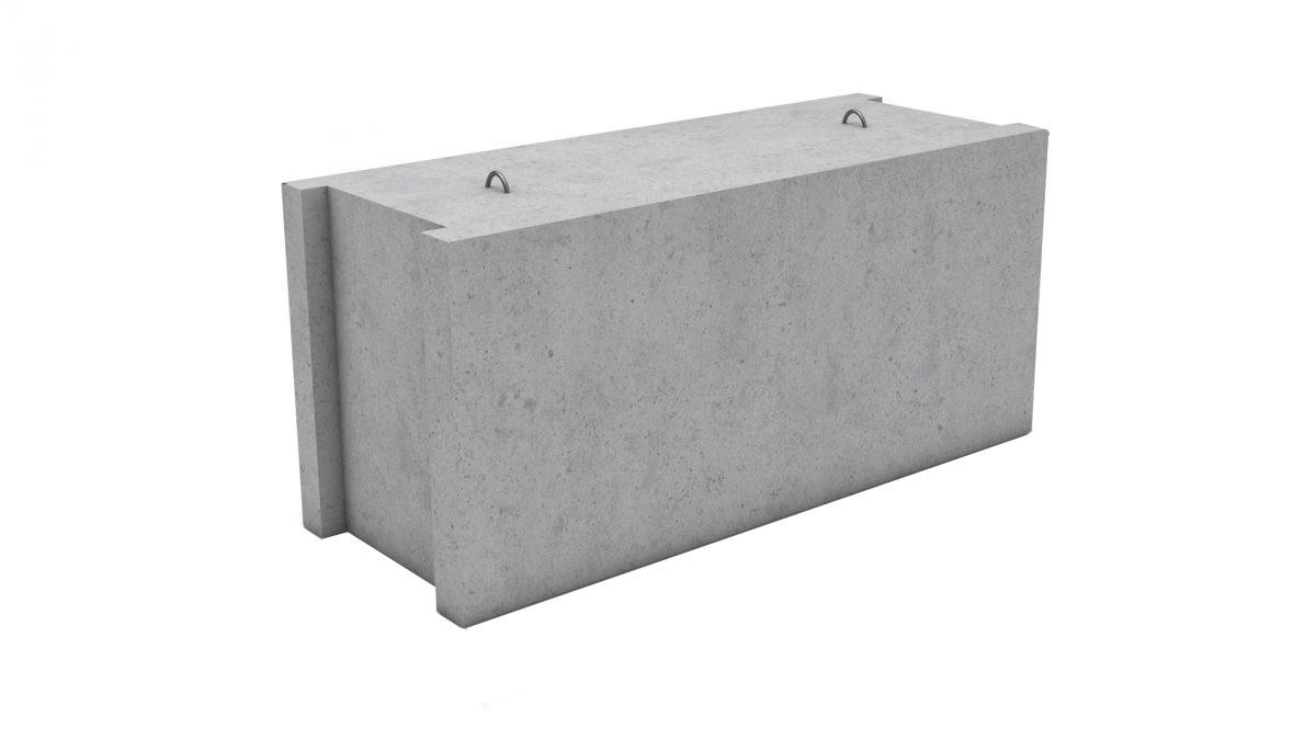 Фундаментные блоки сплошного сечения ФБС12.6-3т