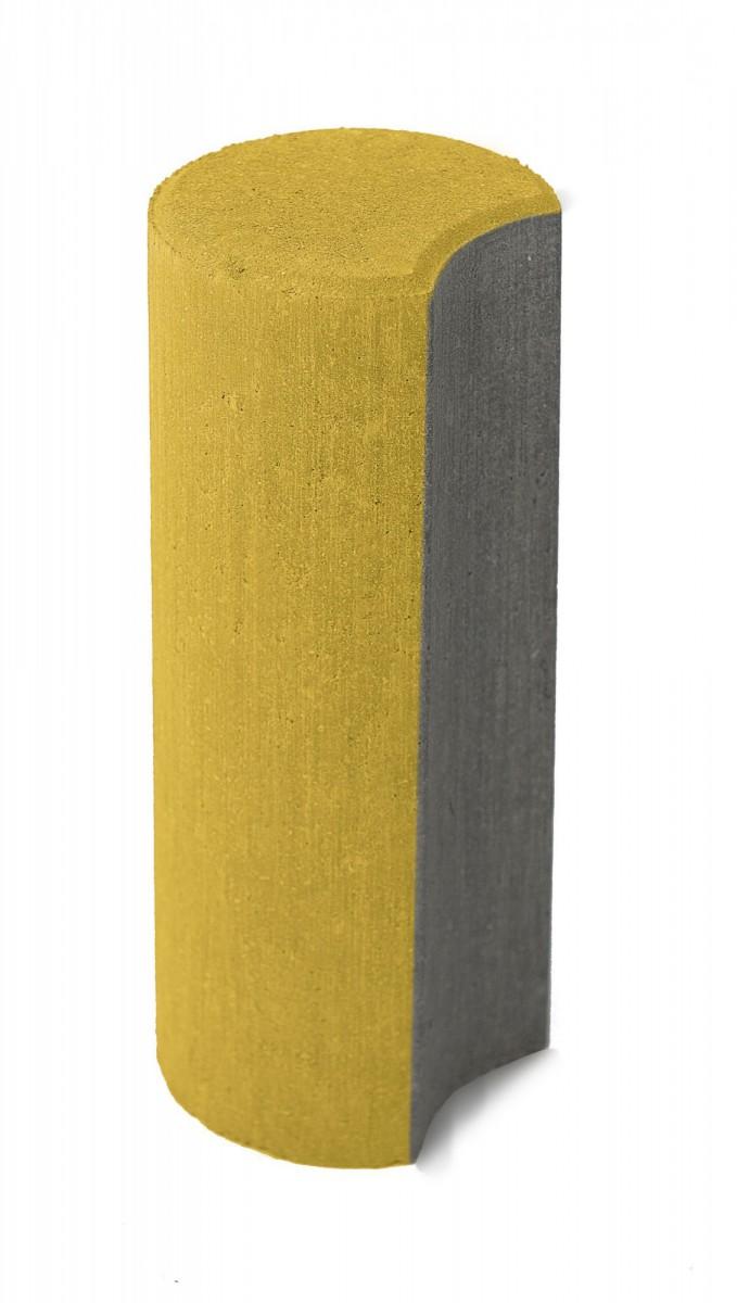 Бетонные столбики «Палисад» Желтый