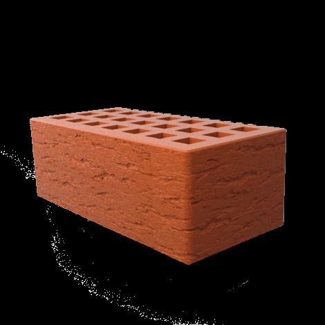Кирпич лицевой пустотелый с фаской 1,4 НФ, красный (ольха 2)